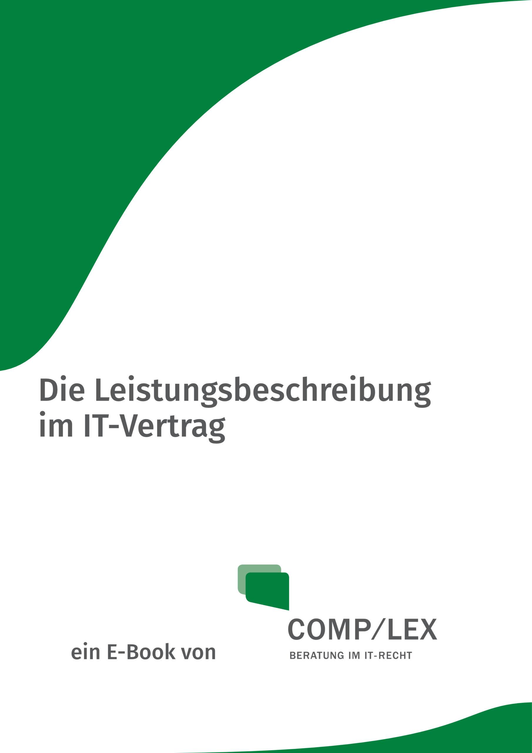 E-Book: Die Leistungsbeschreibung im IT-Vertrag