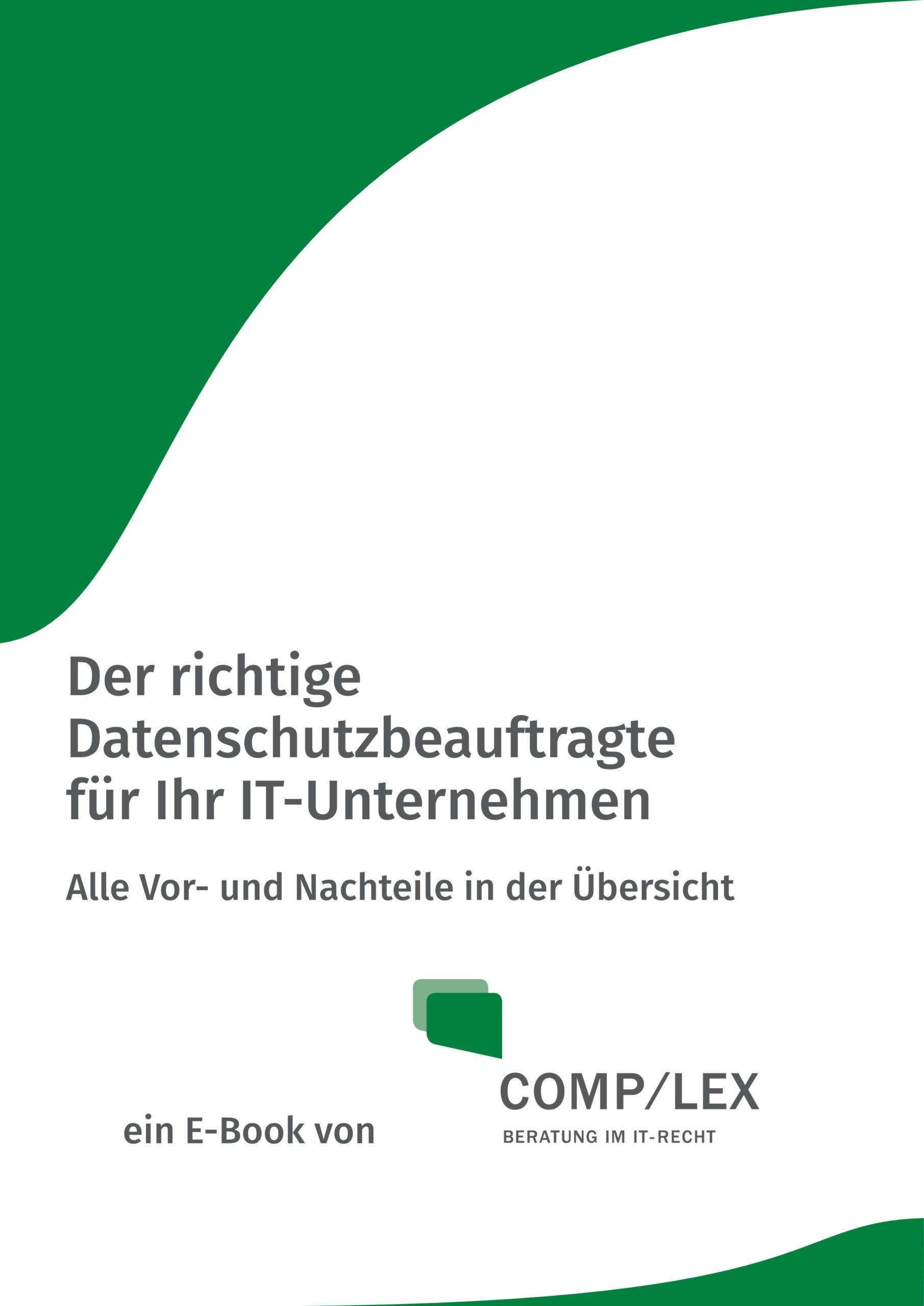E-Book: Der richtige Datenschutzbeauftragte